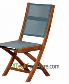 Teak Batyline Folding Chair