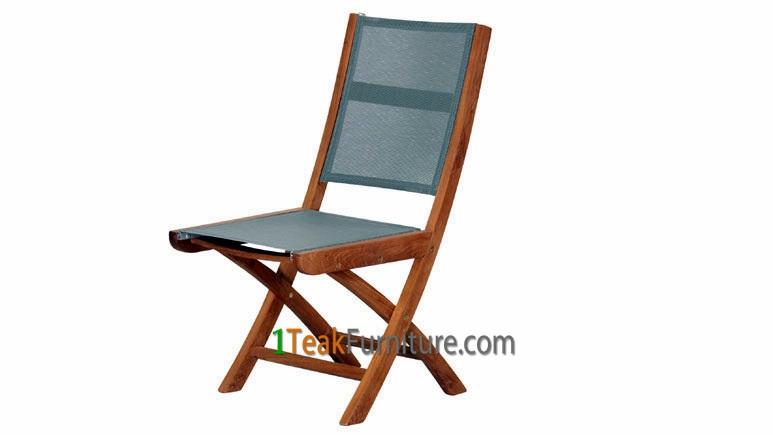 Teak Batyline Folding Chair