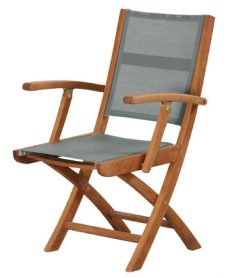 Teak Batyline Folding Arm Chair