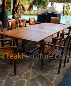 Teak Oiled Dining Table Sets 1