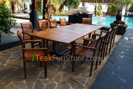 Teak Oiled Dining Table Sets 1 OL-001