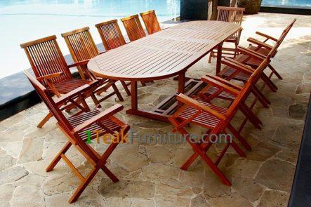 Teak Oiled Dining Table Sets 11 OL-011