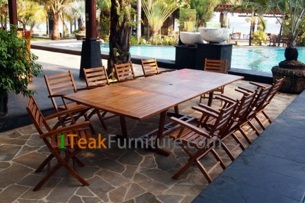 Teak Oiled Dining Table Sets 2  OL-002