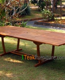Teak Oiled Rectangular Ext. Table 300