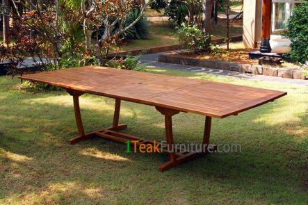 Teak Oiled Rectangular Ext. Table 300