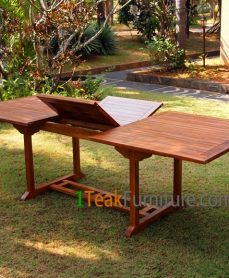 Teak Oiled Rectangular Ext. Table 240
