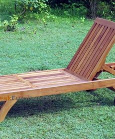 Teak Oiled Lounger