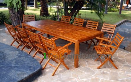 Teak Oiled Dining Table Sets 4 - OL-004