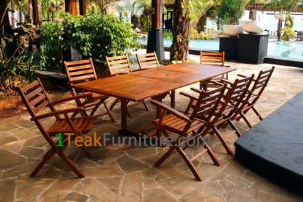 Teak Oiled Dining Table Sets 8 -0L-008