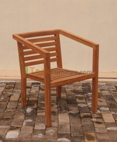 Teak Stacking Arma Chair
