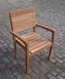 Teak Stacking Arm Chair