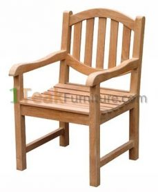 Teak Oval Java Arm Chair