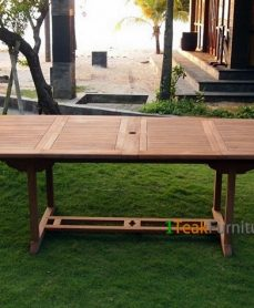 Teak Oval Double Extend Table 200-300 x 120 cm