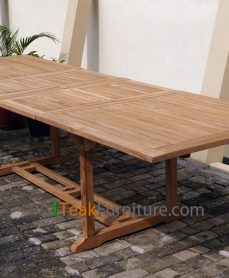 Teak Rectangular Double Extend Table