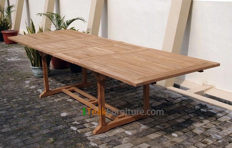 Teak Rectangular Double Extend Table