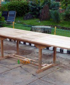 Teak Rectangular Double Extend Table 200-300 / 120