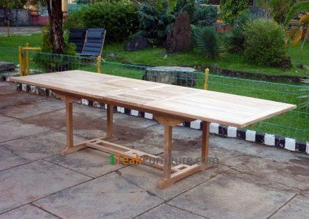 Teak Rectangular Double Extend Table 200-300 / 120 TT-002B