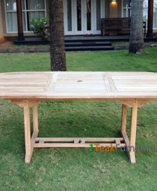 Teak Oval Extend Table 180-240 / 120