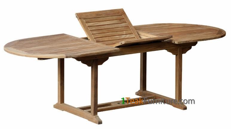 Teak Oval Extend Table 180-240 / 100