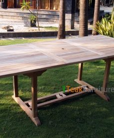 Teak Rectangular Extend Table 180-240 / 120