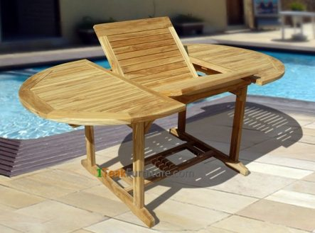 Teak Oval Extend Table 120-170 / 120  TT-005A