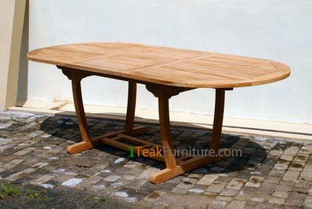 Teak Lengkung Oval Extend Table 120-170 / 100