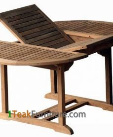 Teak Oval Extend Table 120-170 / 100