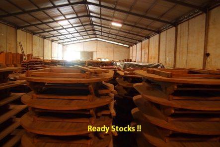 Ready Stocks Teak Extend Table
