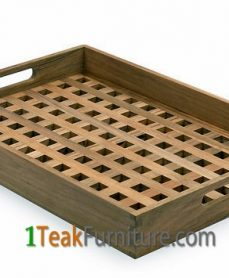 Cross Teak Tray
