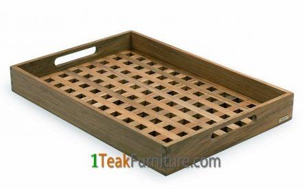 Cross Teak Tray