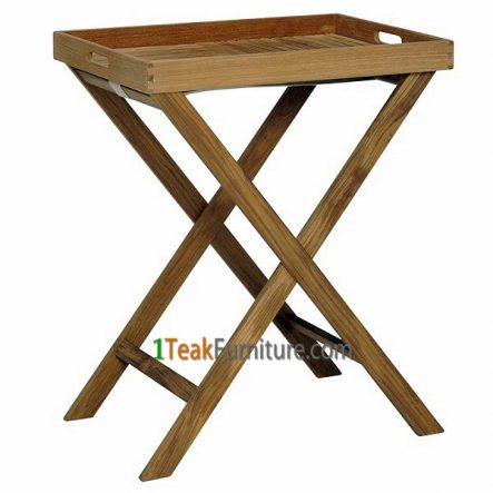 Teak Tray With Stand, TA-008
