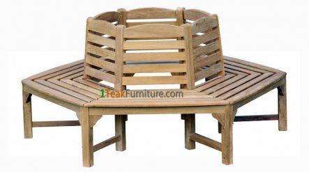 Octagonal Tree Bench