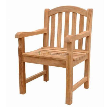Teak Curved Java Arm Chair