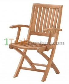 Teak Jakarta Folding Arm Chair