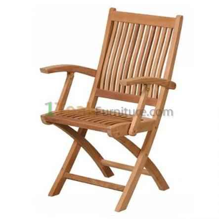 Mobili Teak Folding Arm Chair