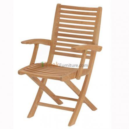 Teca Folding Arm Chair