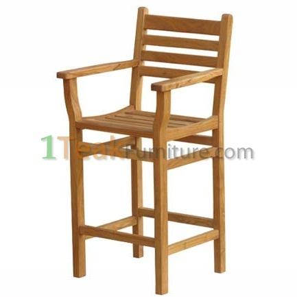 Teak Bar Arm Chair