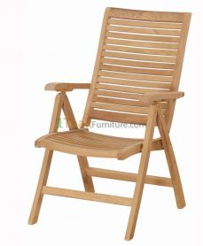 Teak Horizon Reclining Chair