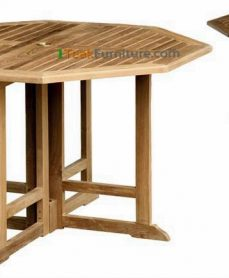 Teak Octagonal Butterfly Table 140