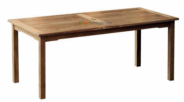 Teak Rectangular Dining Table 180 x 90