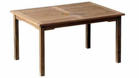 Teak Rectangular Dining Table 150 x 90