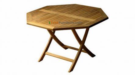 Teak Octagonal Folding Table 80
