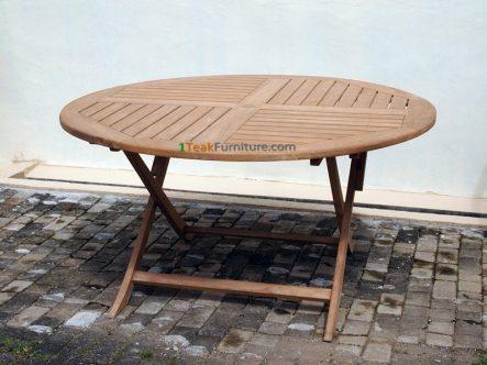 Teak Round Folding Table 130