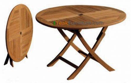 Teak Round Folding Table 120