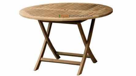 Teak Round Folding Table 100