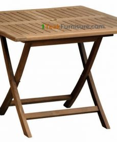 Teak Square Folding Table 130