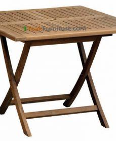 Teak Square Folding Table 120