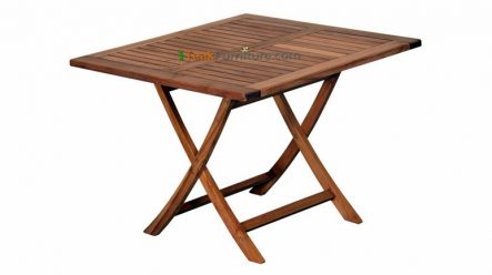 Teak Square Folding Table 100