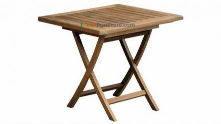 Teak Square Folding Table 80