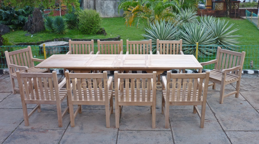 teak patio furniture jepara